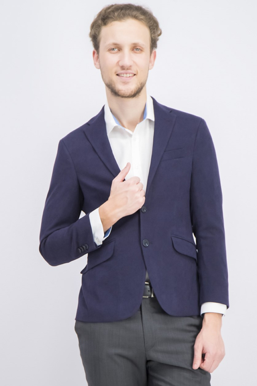 Men's Slim-Fit Ultrasuede Sport Blazer, Navy