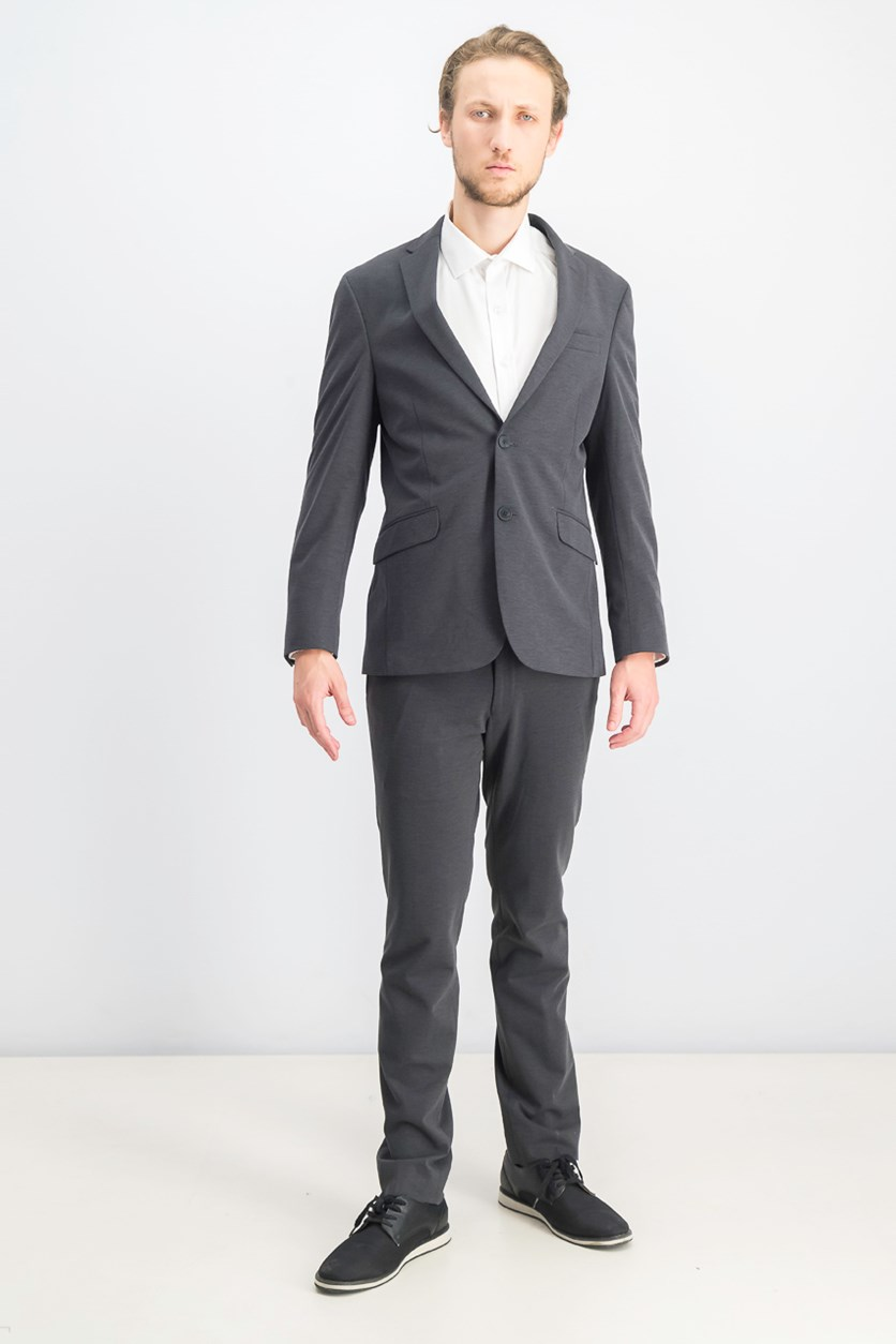 Men's Knit Techni-Cole Suit, Charcoal