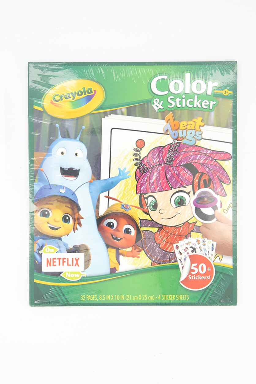 Beat Bugs Color and Sticker, Green