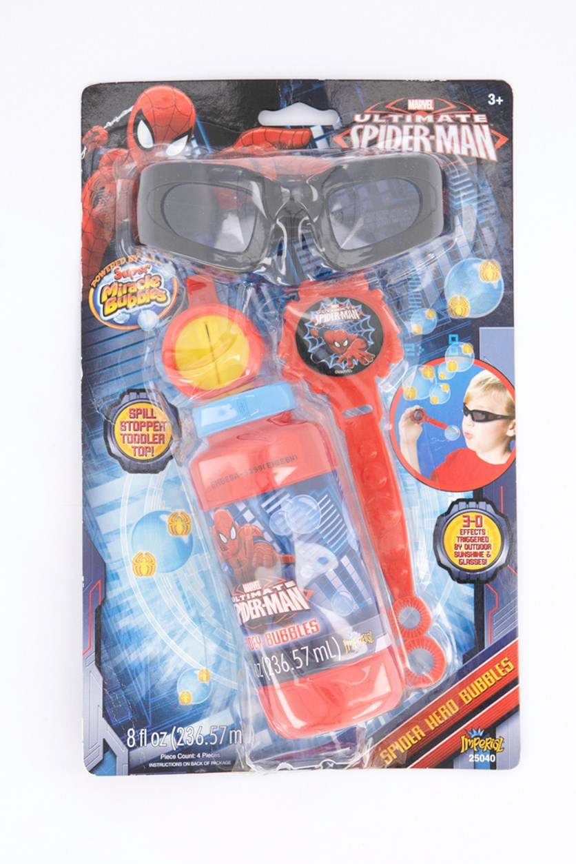 Ultimate 3D Spider Man Spidey Bubbles, Red