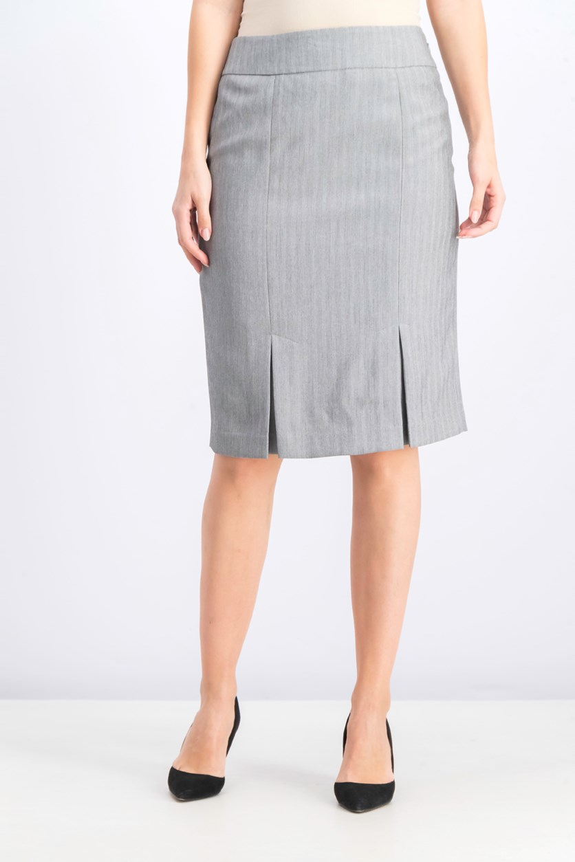 Women's Pleated Skirt, Steel