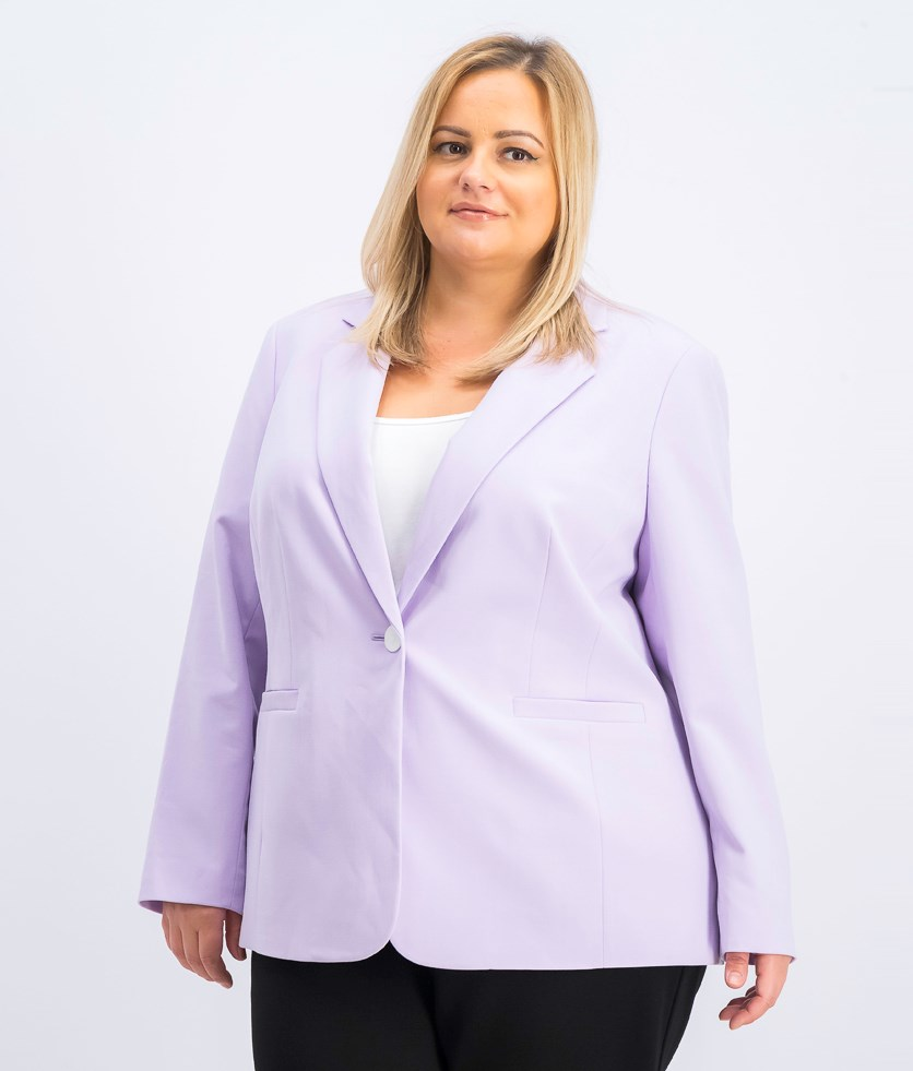 Plus Size One-Button Blazer, Daphne