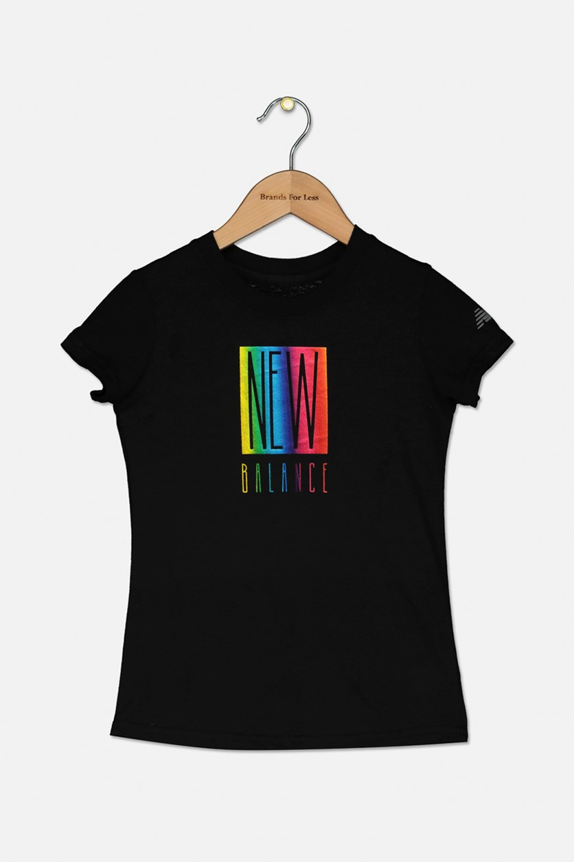 Kids Girls Graphic Tee, Black