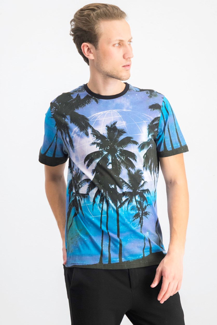 Men's Sublimation Short Sleeves Tee, Blue Combo