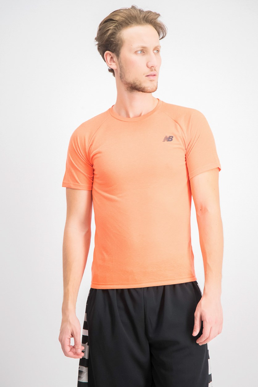 Men's Fun Run Short Sleeve Tee, Orange