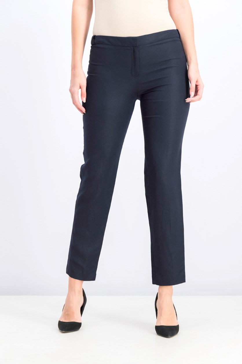 Women's Button-Waist Pants, Navy