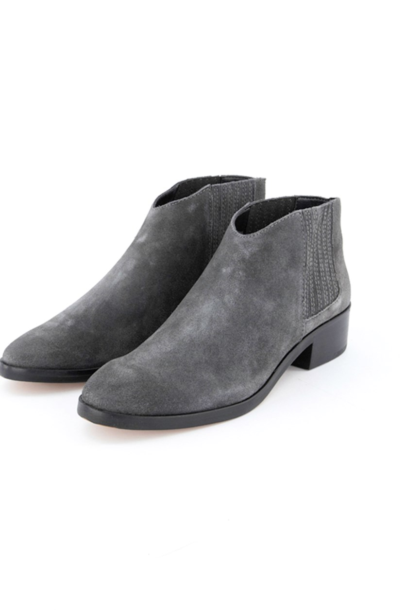 Women's Anthracite Suede Boots, Grey