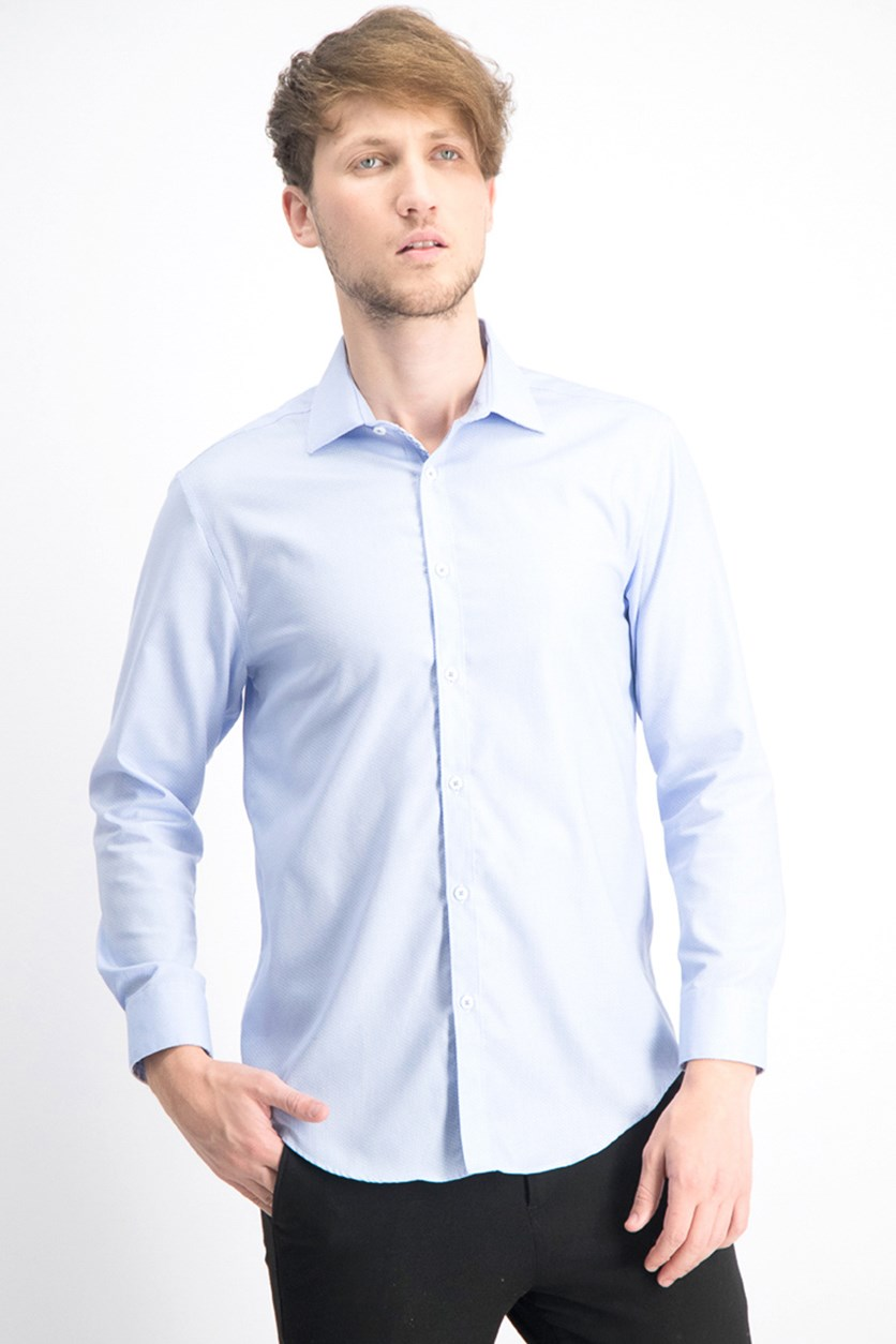 Men's Ultimate Extended Sizing Slim Fit Non Iron, Pastel Blue