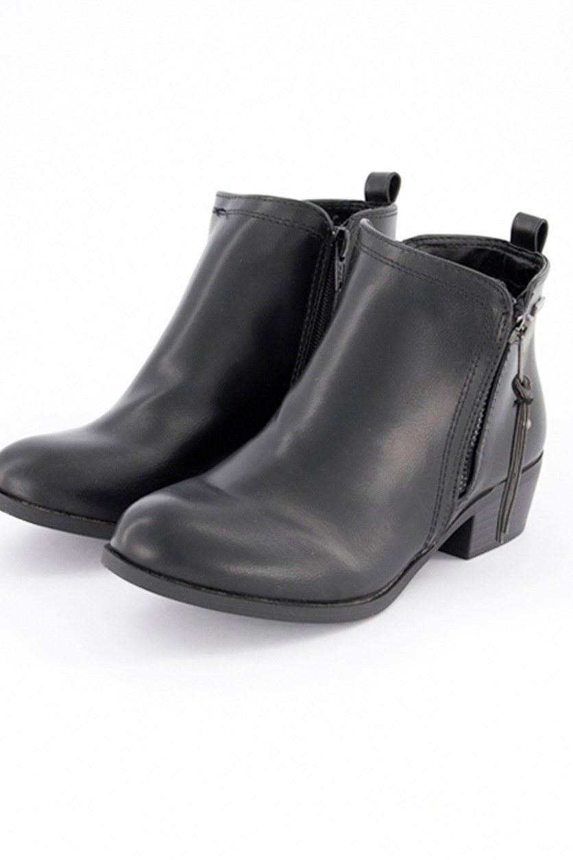 Kids Girls Short Booties, Belmonde/Black