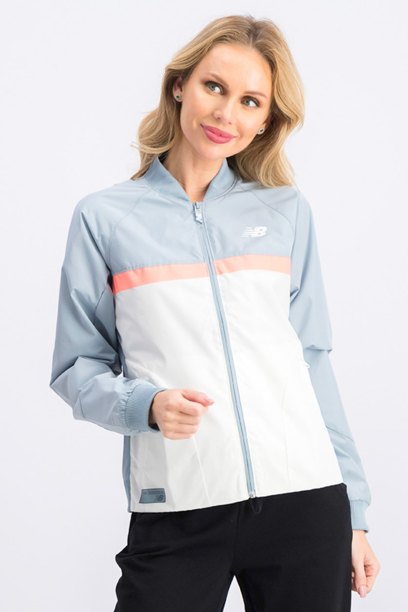 Women's Athletics Jacket, Grey/Ivory