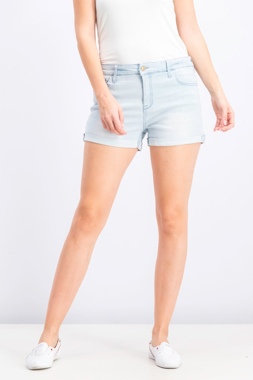 Juniors' Cuffed Denim Shorts, Meryl
