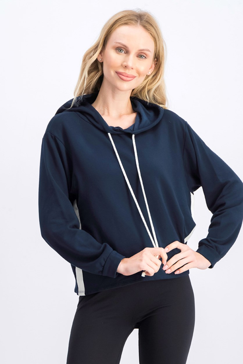 Women's Pullover Hoodie Jacket, Navy Blue