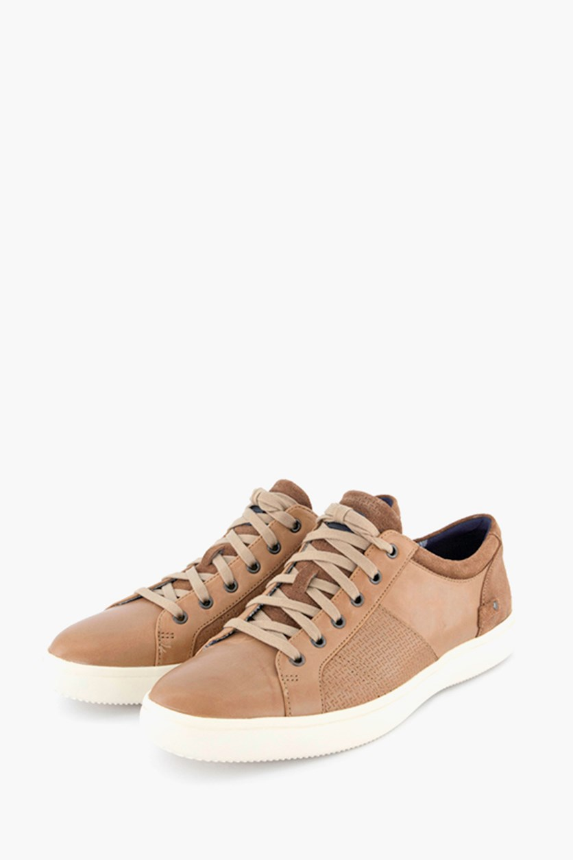 Men's Lace Up Casual Shoes, Light Brown
