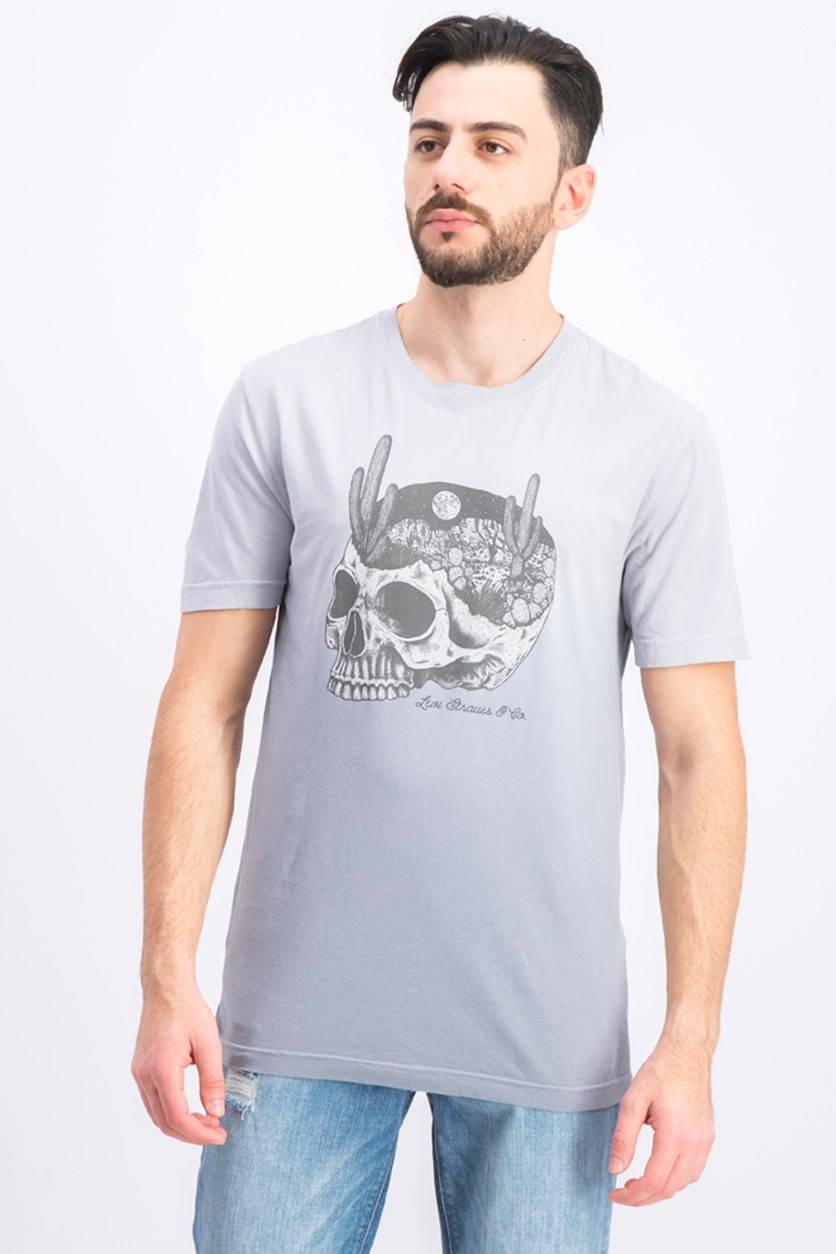 Men's Graphic Short Sleeve T Shirt, Grey