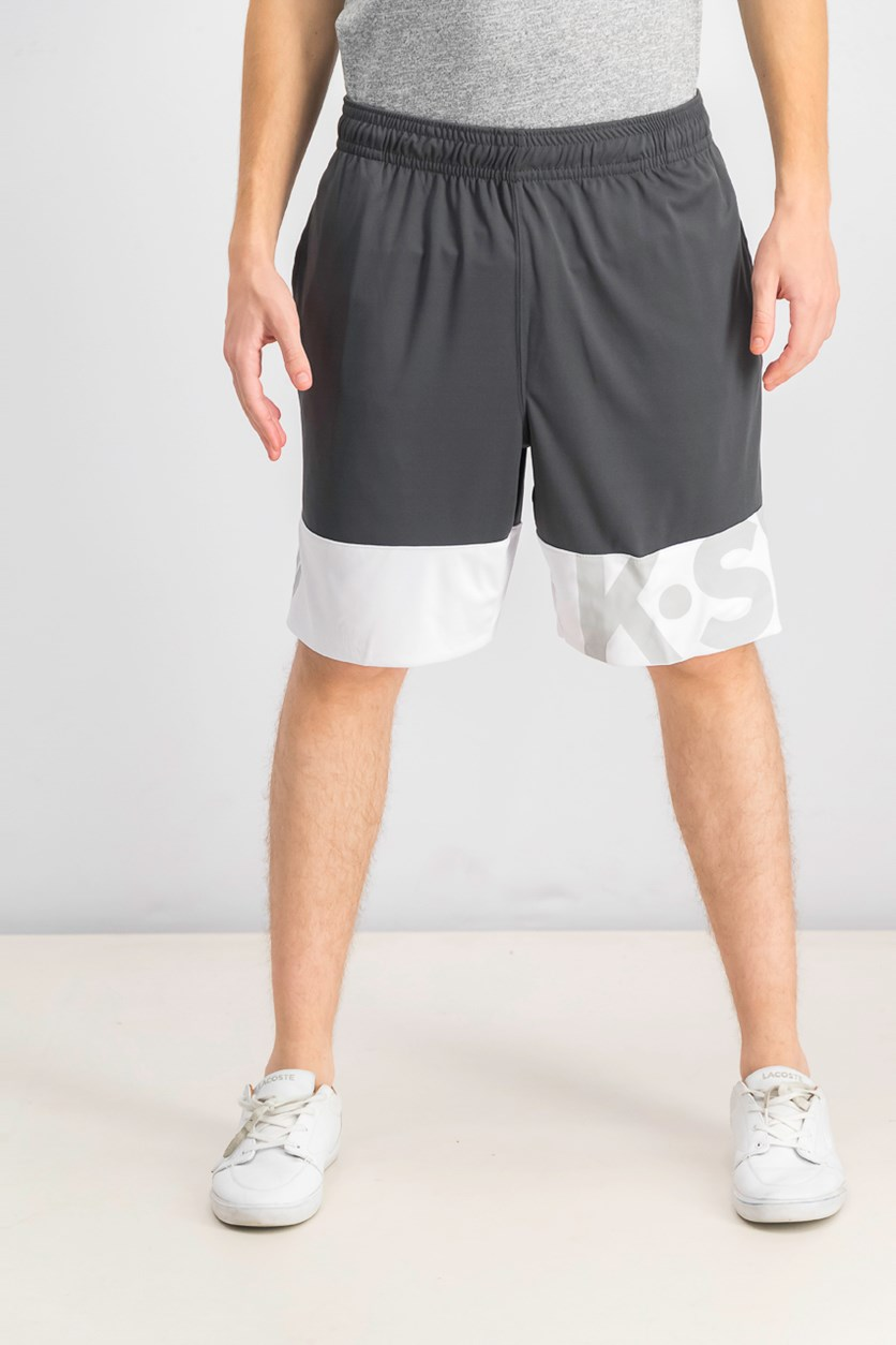 Men's Pull On Out Of Line Shorts, Ebony
