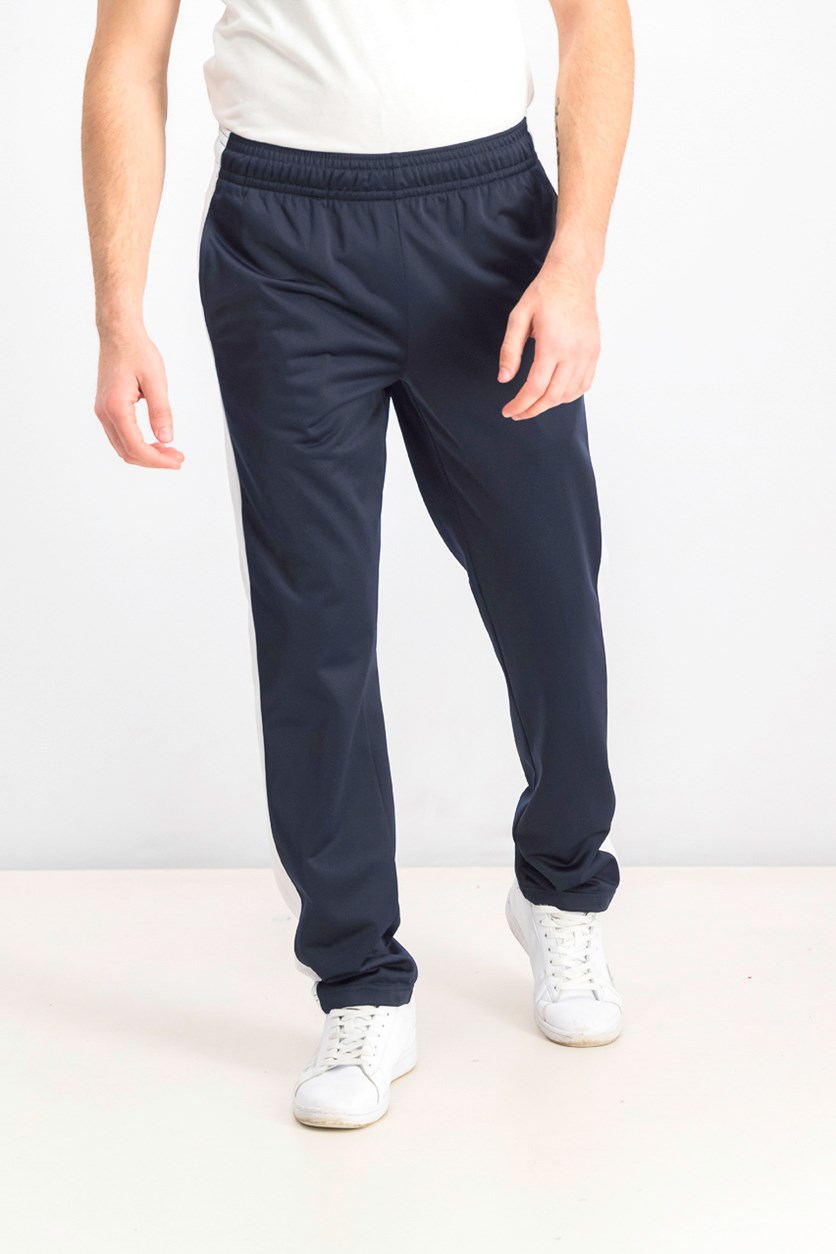 Men's Logo Print Track Pants, Navy
