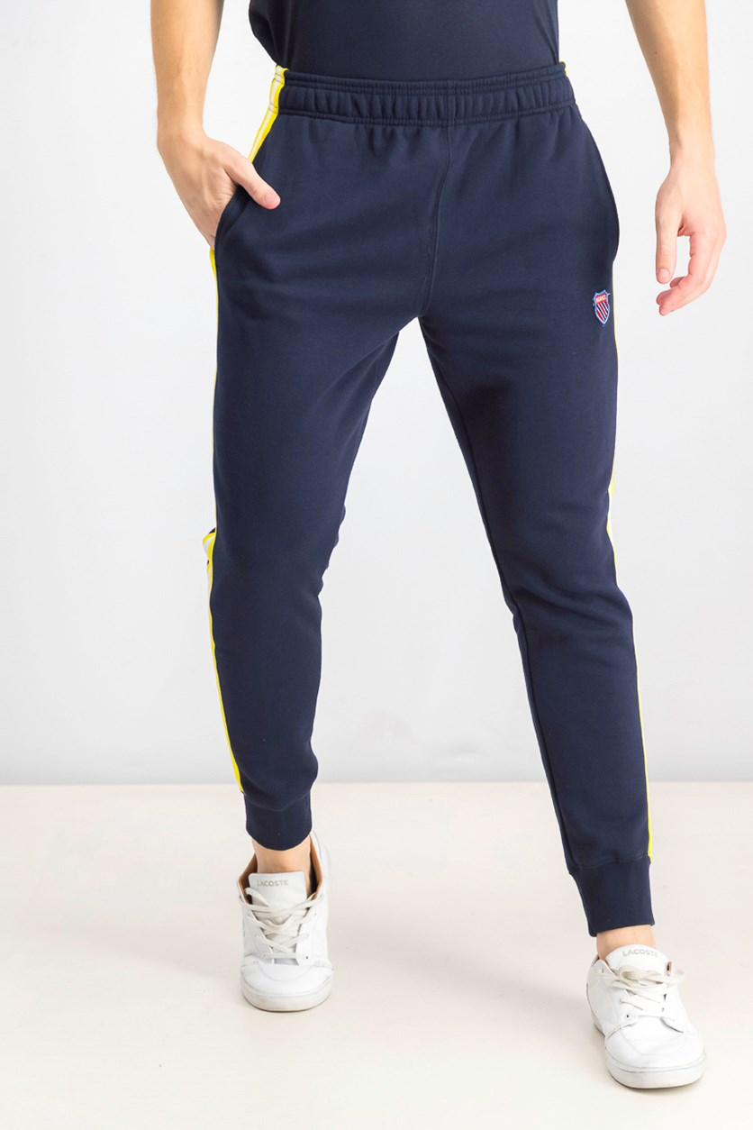 Men's Pull-On Sweatpants, Navy/Yellow