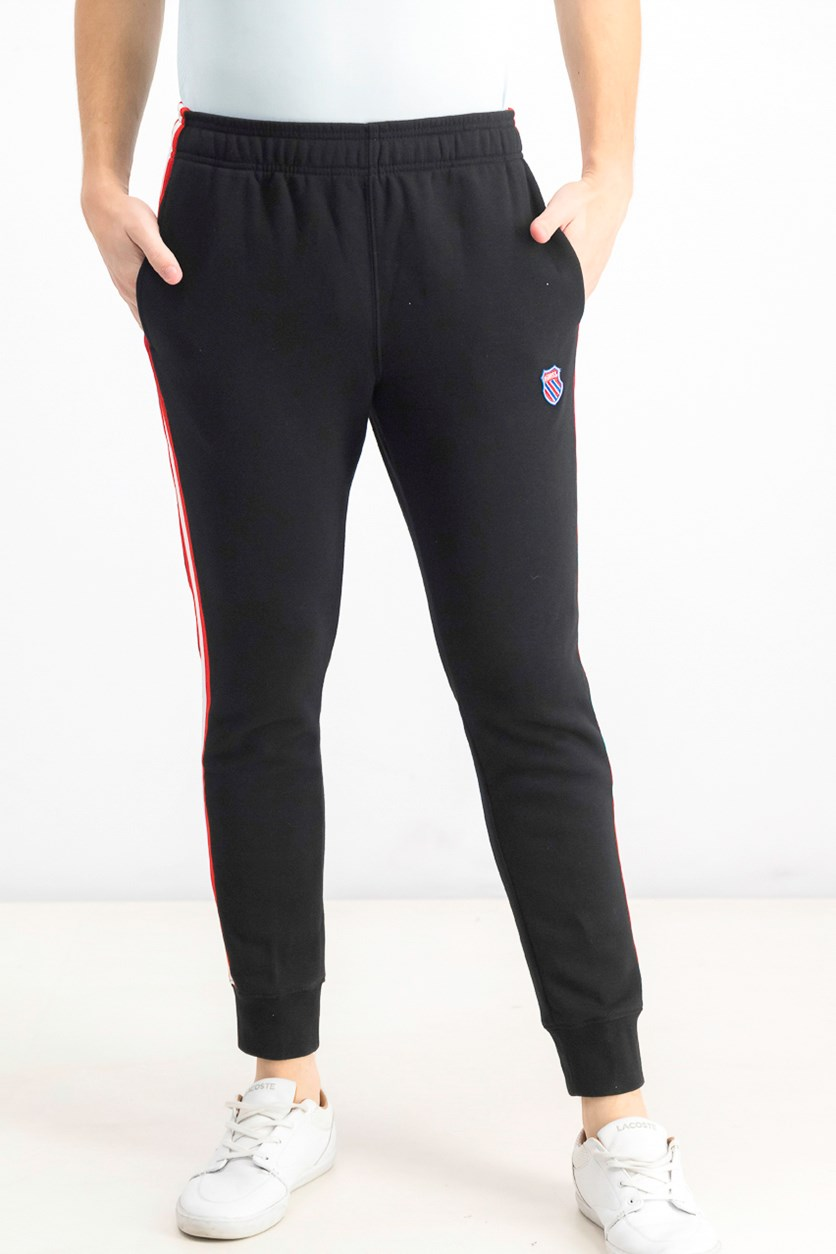 Men's Pull-On Sweatpants, Black/Red