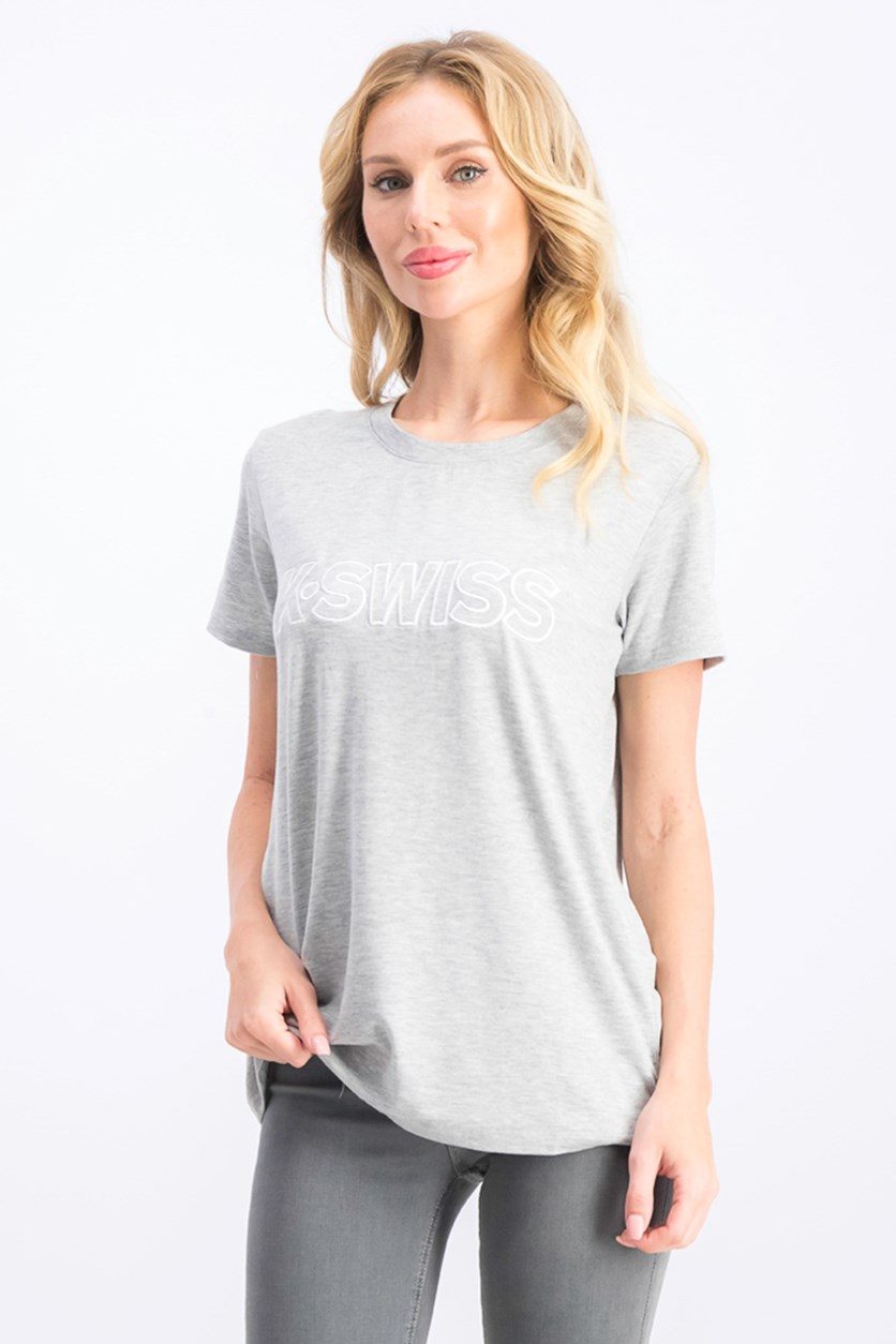 Women's Ultra Violet Short Sleeve Tee, Grey