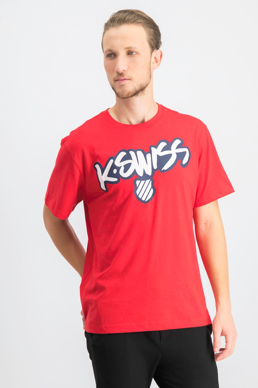 Men's Pullover Graphic T-Shirt, Mars Red