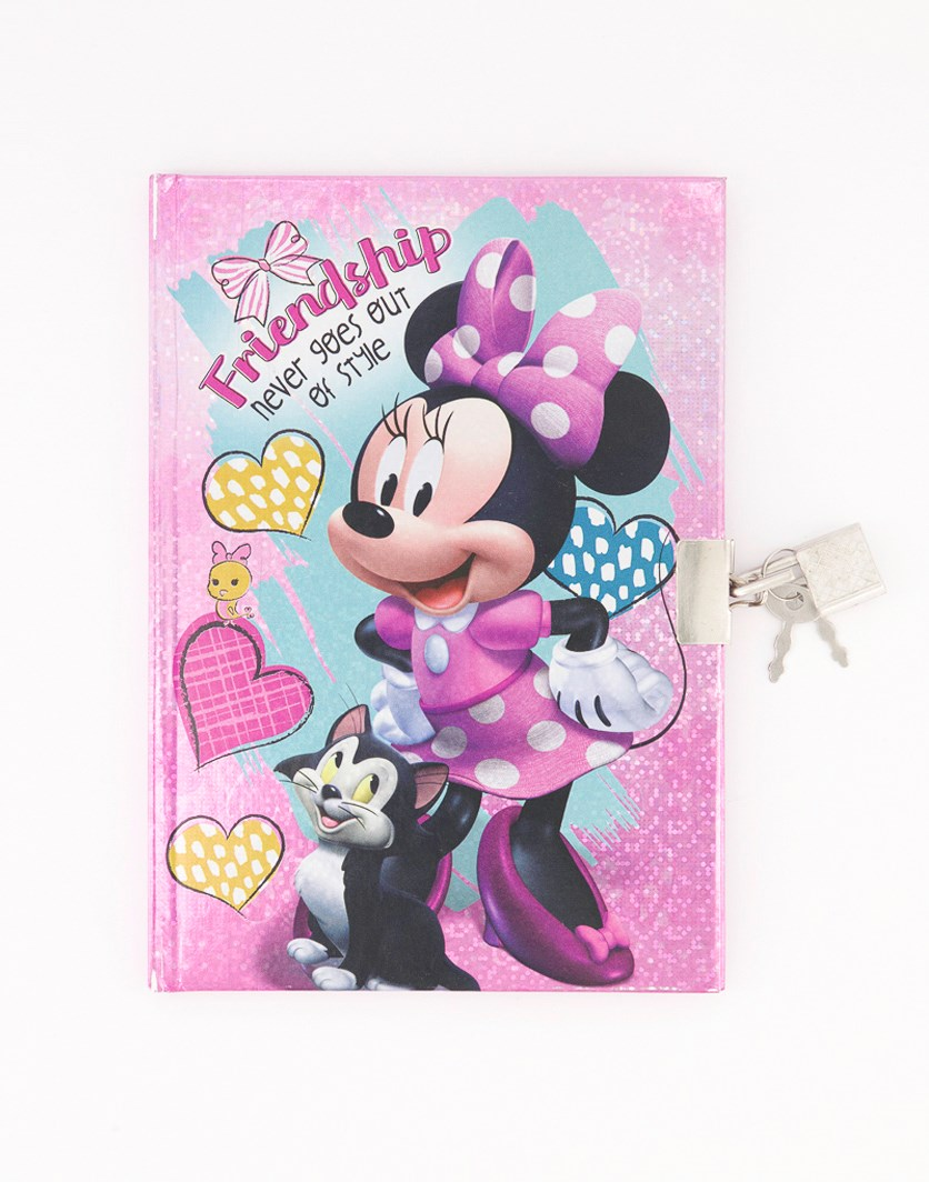 Minnie Mouse 50 Sheets Diary With Lock, Pink