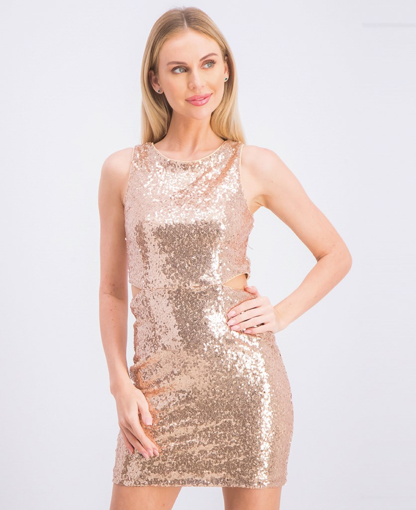 Women's Sequins Party Dress, Blush