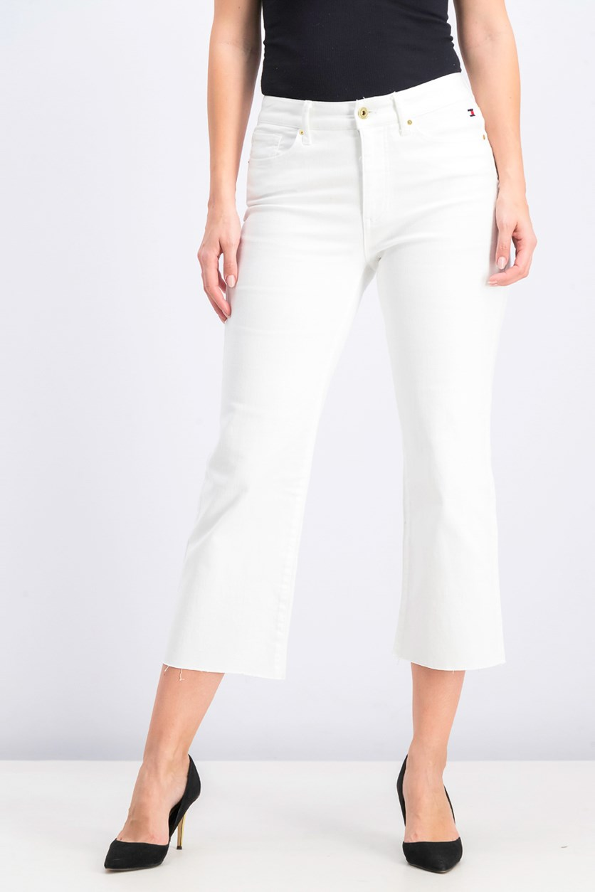 Women's Cropped Slim Jeans, White