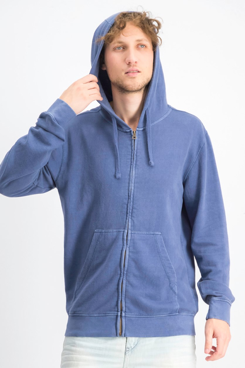 Men's Pocket Hoodie Sweater, Blue Night