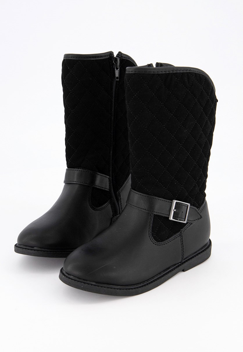 Kids Girls Claress-CR Boots, Black