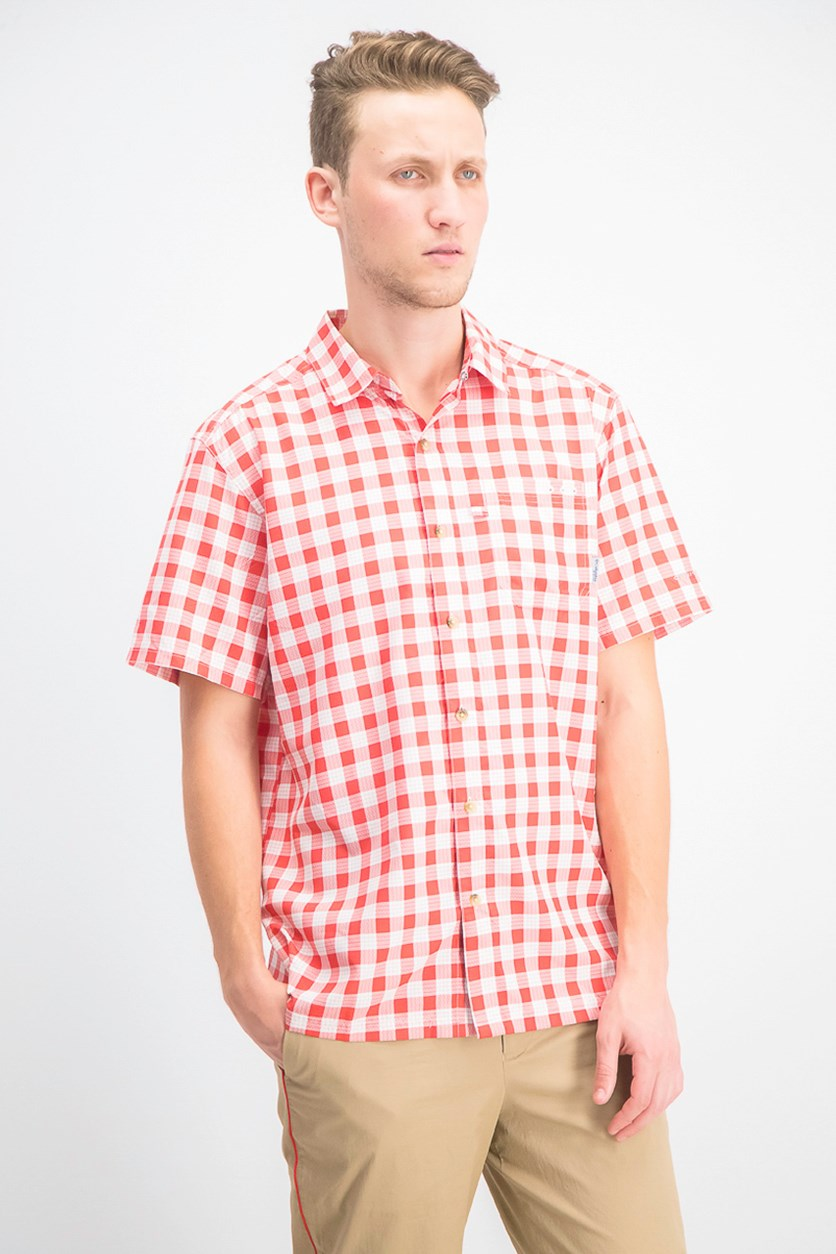 Men's Super Slack Tide Camp Shirt, Red Combo