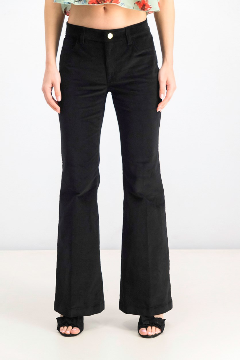 Women's Selma High Rise Flare Corduroy Pants, Black
