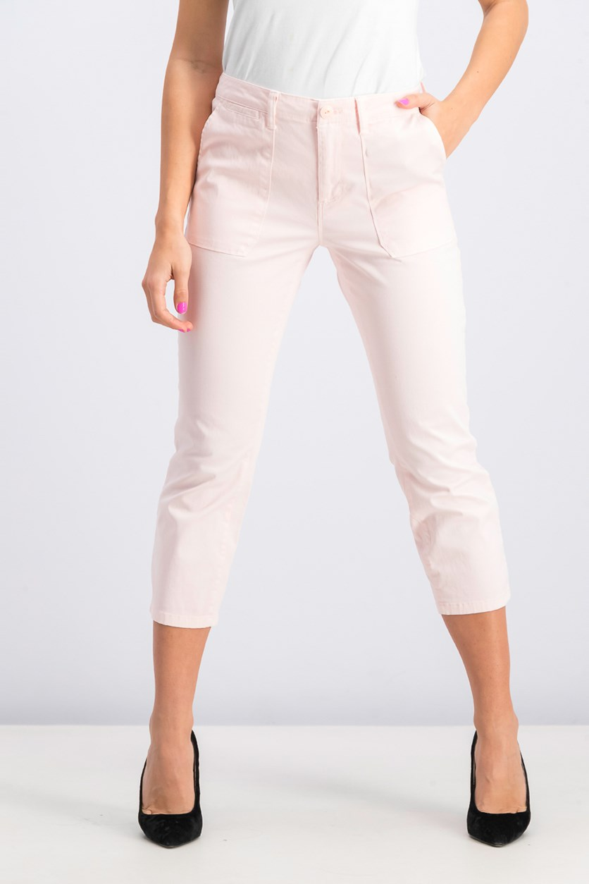 Women's Peace Crop Chino Pants, Baby Pink