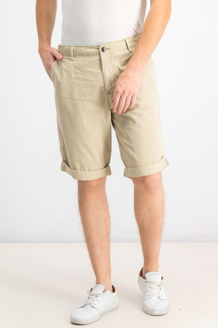 Men Hache Straight Shorts, Medium Beige