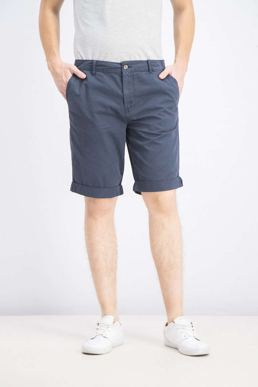 Men's Hache Straight Shorts, Midnight Blue