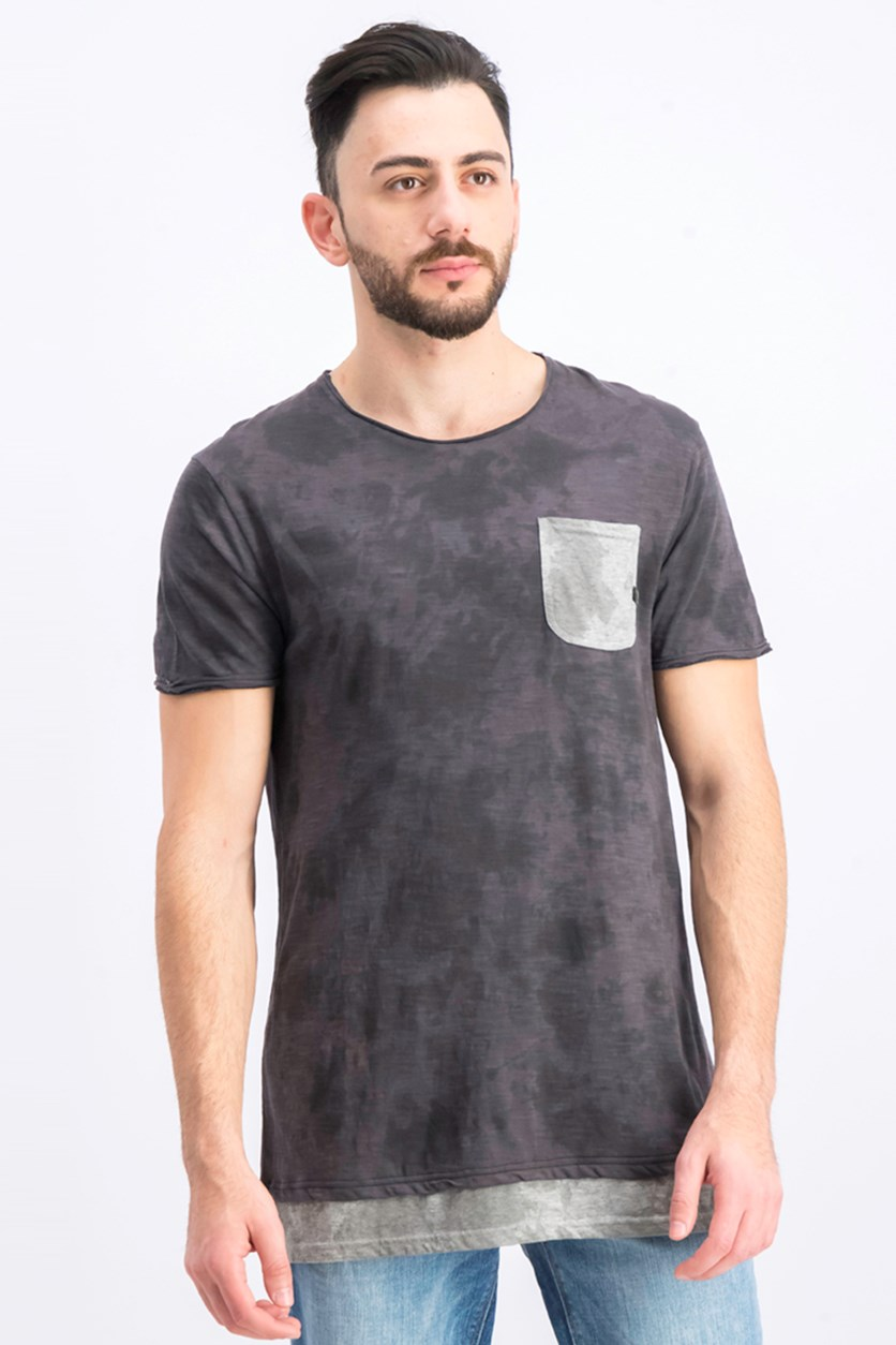Men's Front Pocket T-Shirt, Carbon