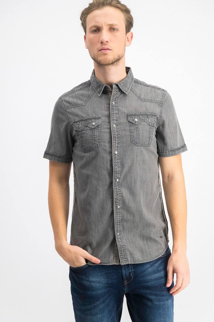 Men's Saroan Shirt, Charcoal