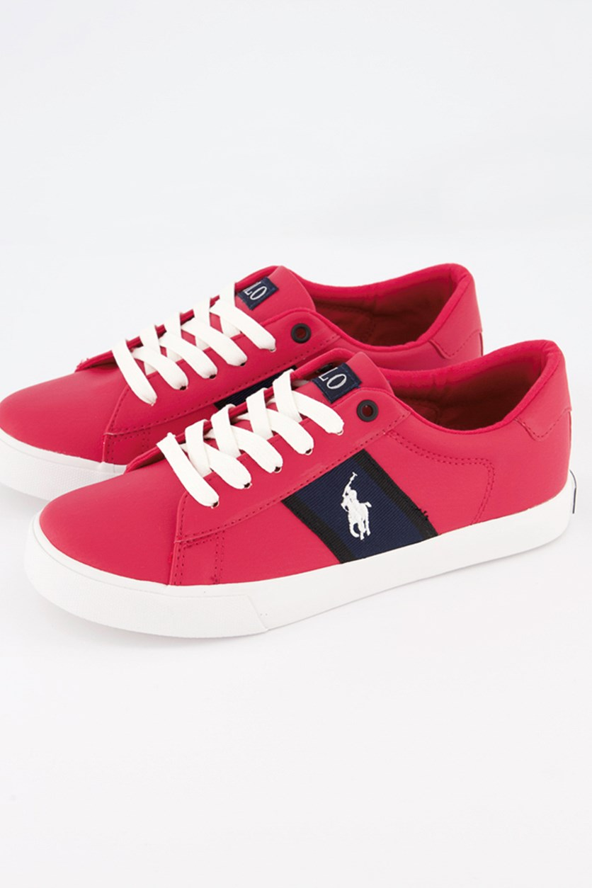 Boy's Geof Shoes, Red/Navy/Black
