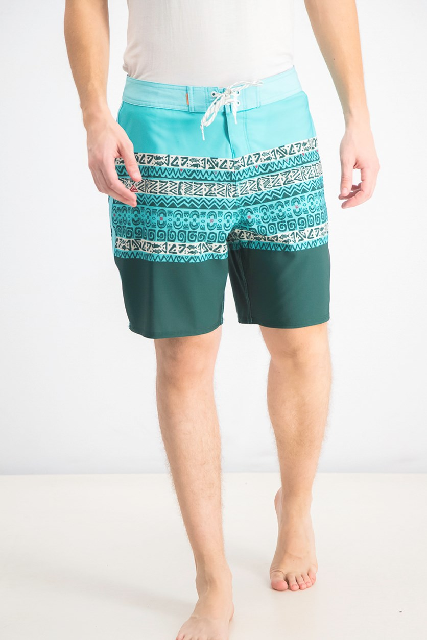 Men's Liberty Triblock Board Shorts, Turquoise
