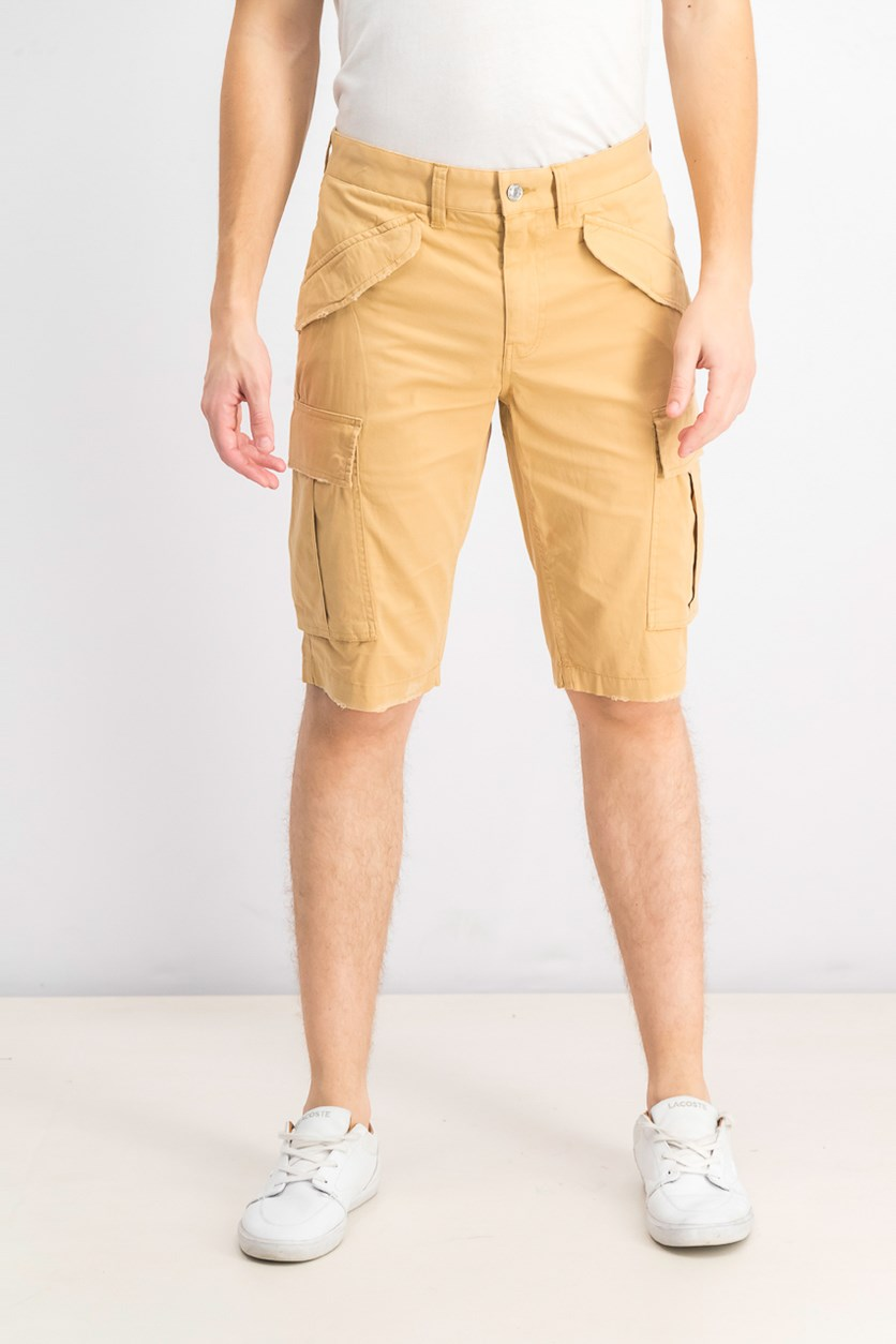 Men's Summery Stretch Cargo Shorts, Desert Dunes