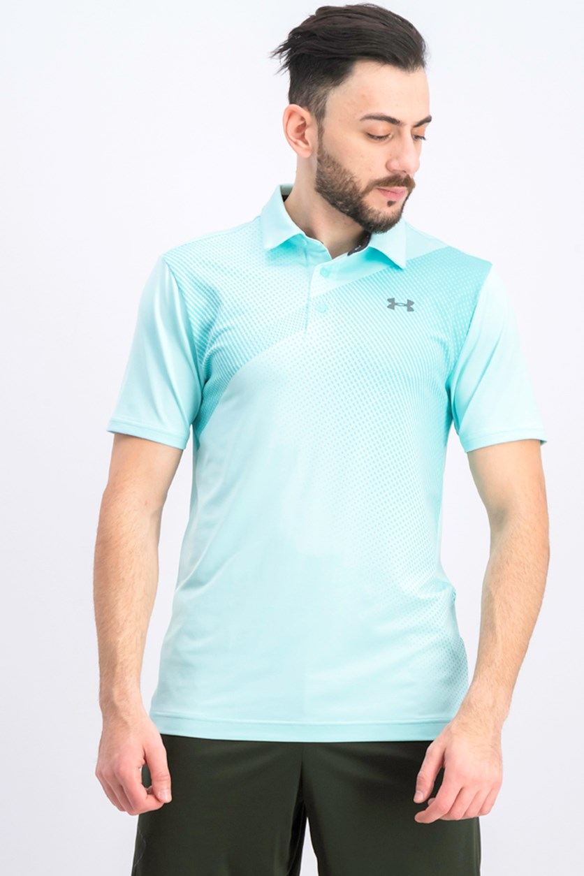 Men's Short Sleeve Playoff Polo Shirt, Turquoise