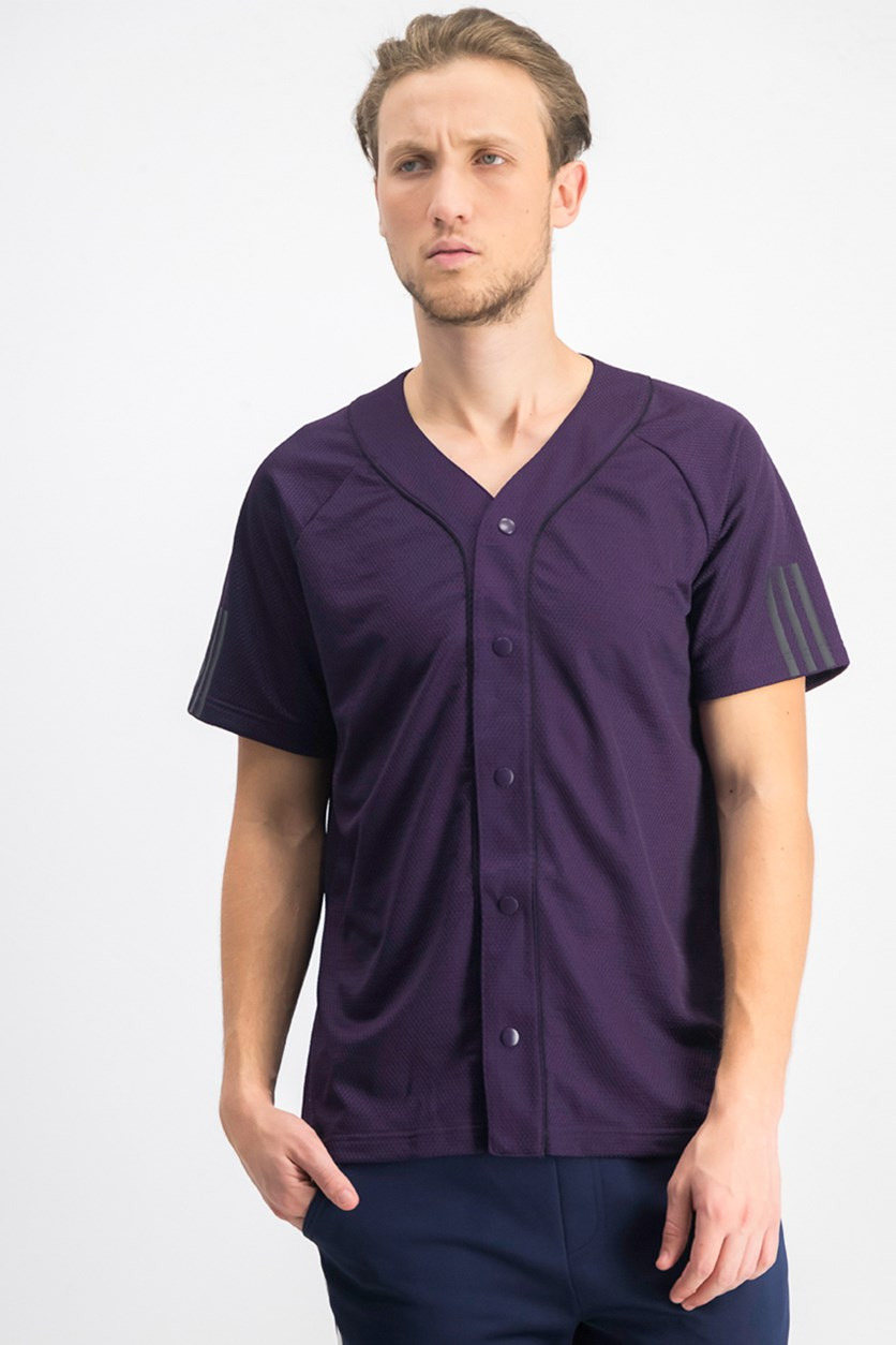 Men's Baseball Jersey, Violet/Black