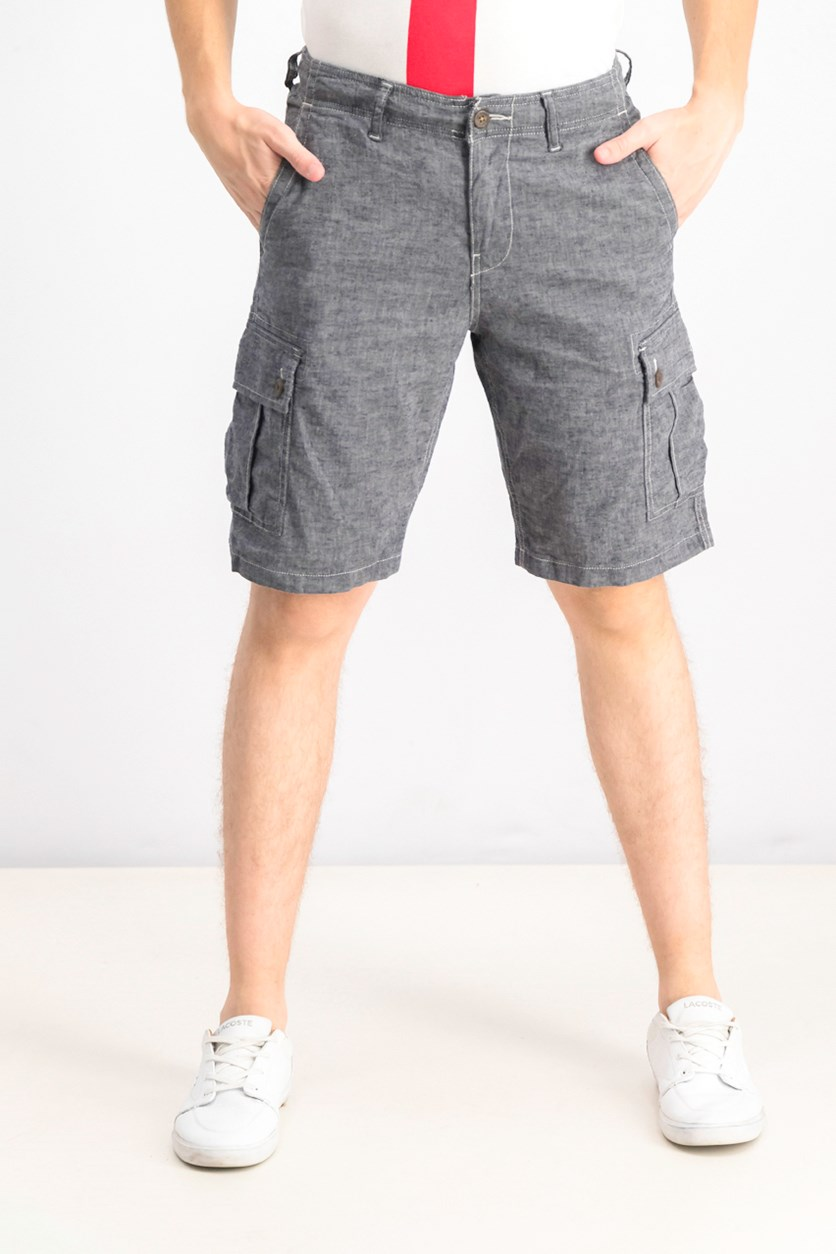 Men's Cargo Saturday Stretch Shorts, Charcoal