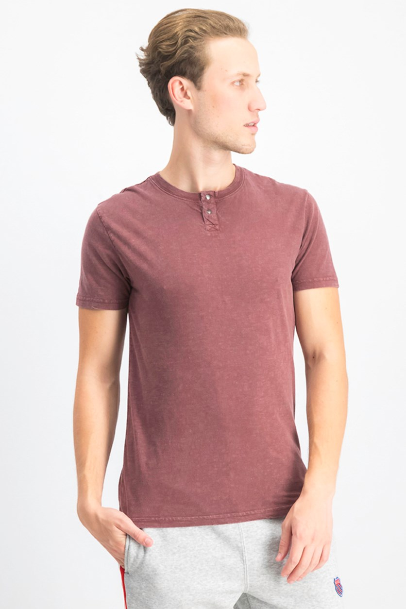 Men's Sugar Magic Snap Notch Tee, Deep Merlot