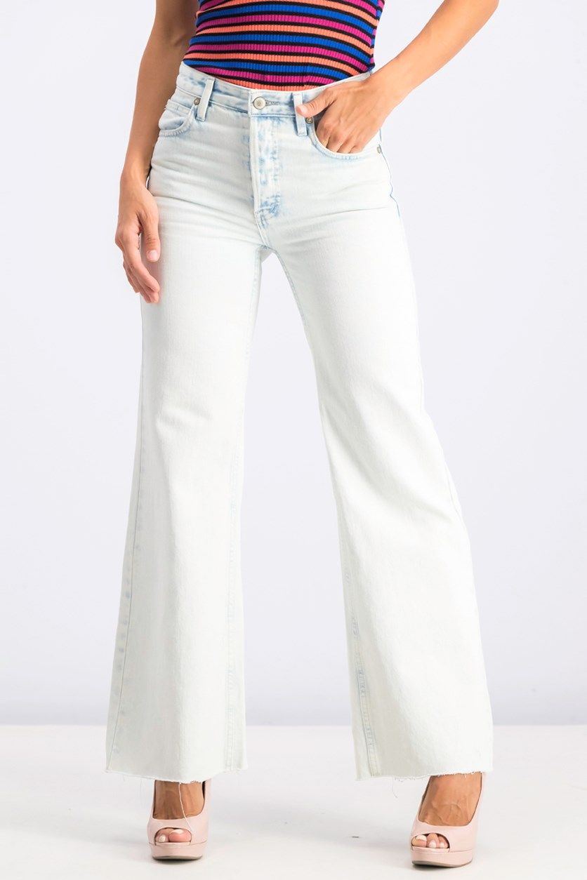 High-Rise Straight Flare Jeans, Gold Coast
