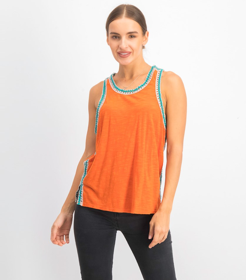 Bora Bora Racerback Tank Top, Orange