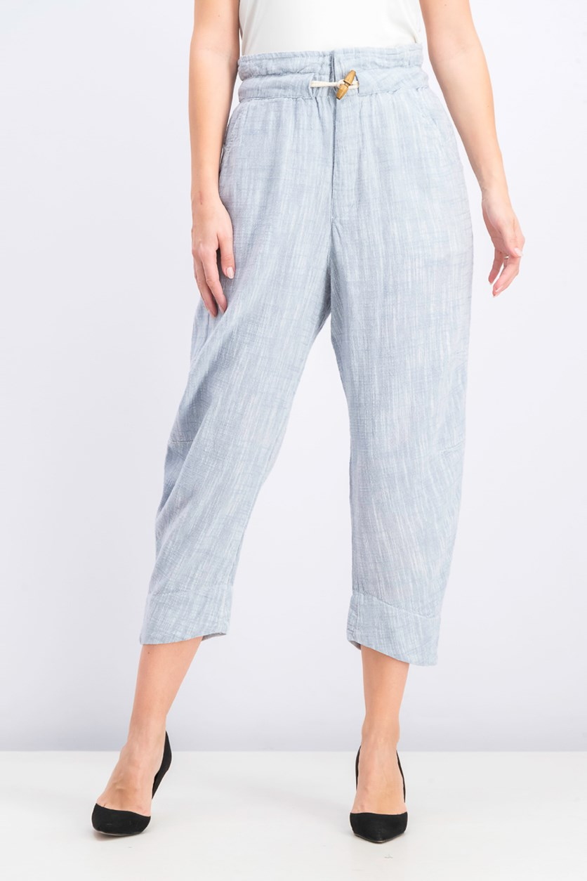Women's Paradise Toggle Straight-Leg Pants, Chambray