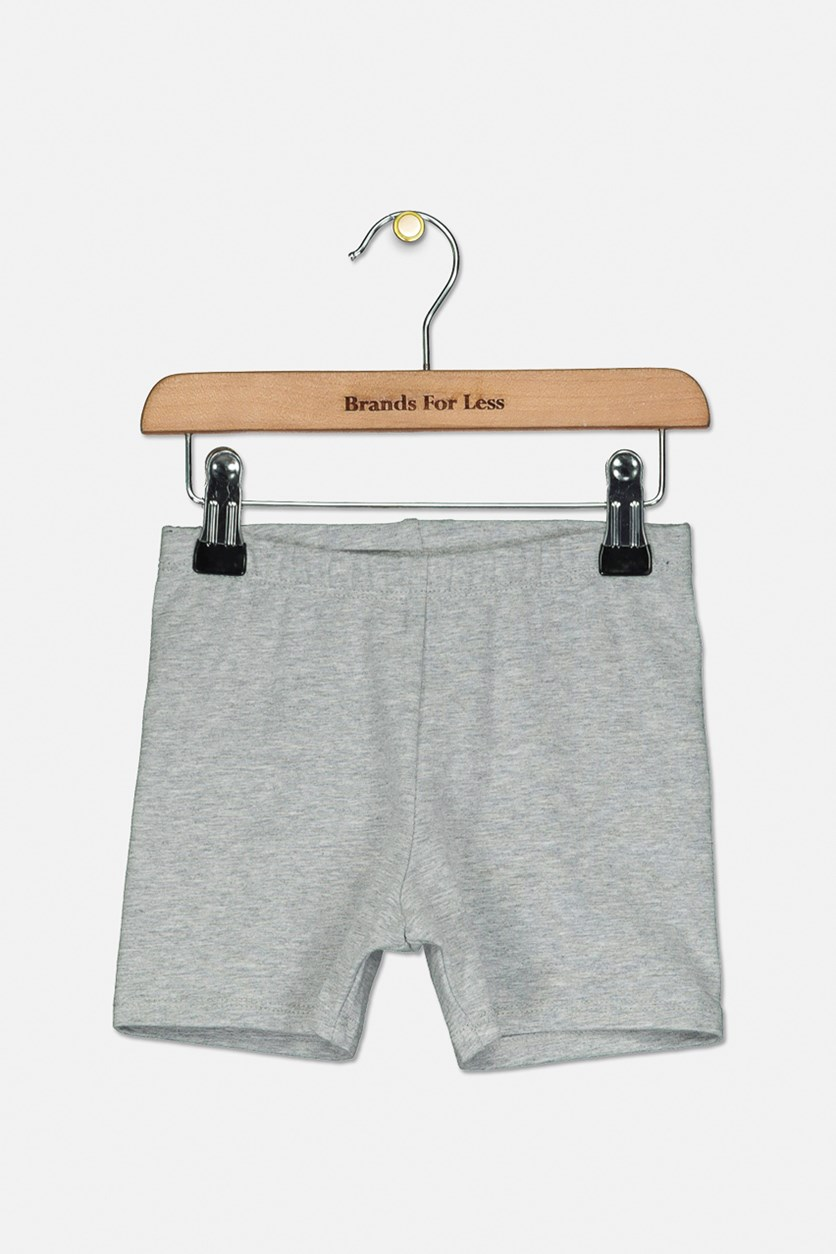 Girls Plain Pull-on Short, Grey