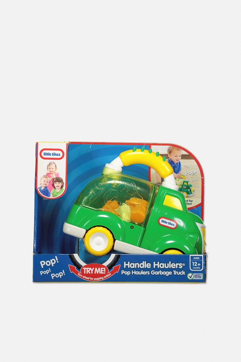 Little Tikes Handle Haulers Pop Haulers Garbage Truck, Green/Yellow Combo