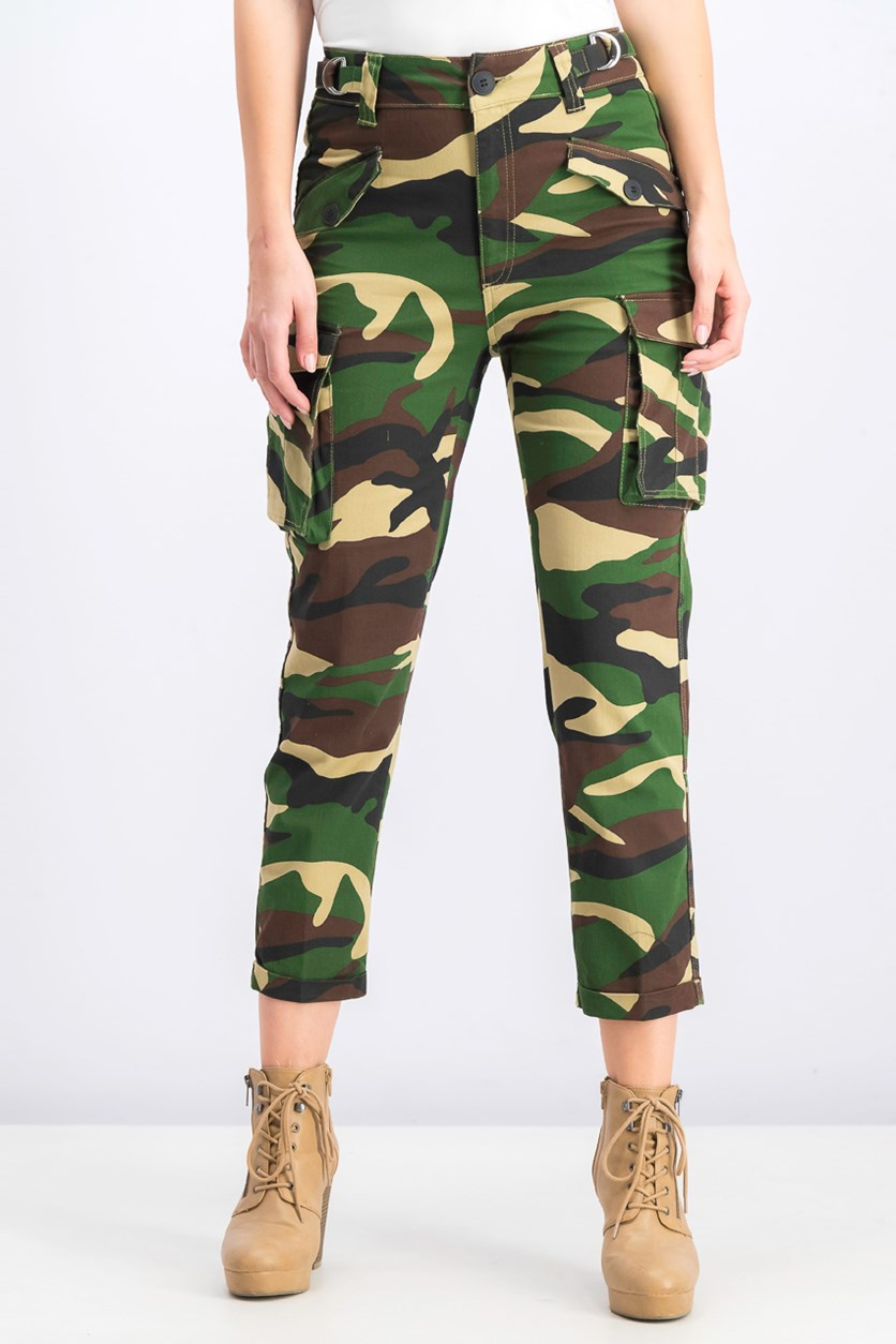 Women's Cargo Utility Pants, Camouflage