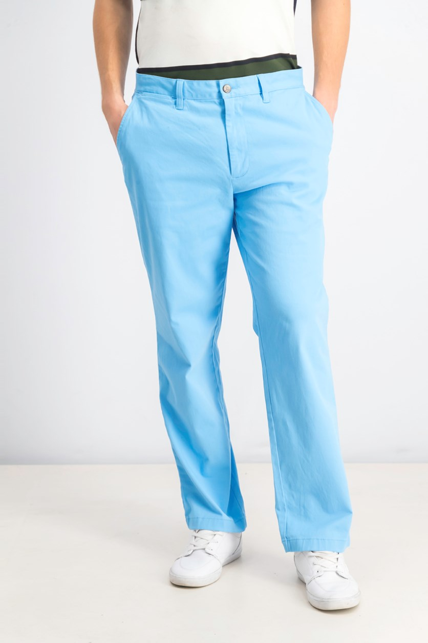 Men's Classic Flat-Front Deck Pants, Alaskan Blue
